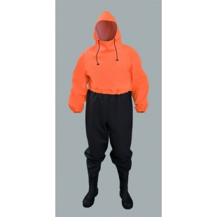 Waterproof Overalls for Draining Canal's Workers with Pvc Safety Boots S5
