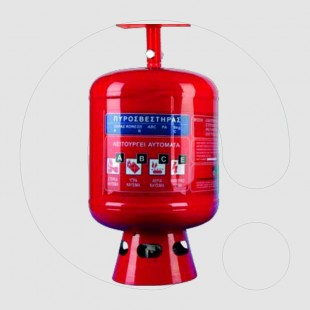 Automatic Fire Extinguisher 6 kg Dry Powder ABC 40%