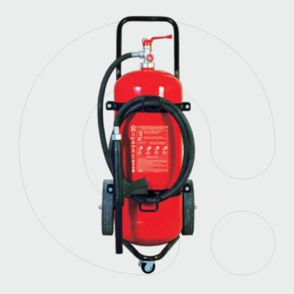 Trolley Fire Extinguisher 50 kg Dry Powder
