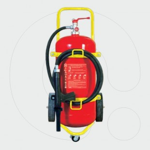 Trolley Fire Extinguisher 25l Foam