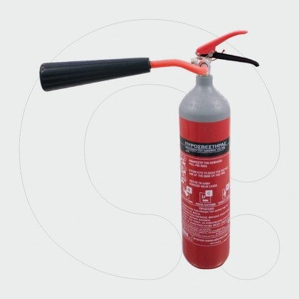 Aparat zjarrfikës, 2 kg dyoksid karboni (CO2)