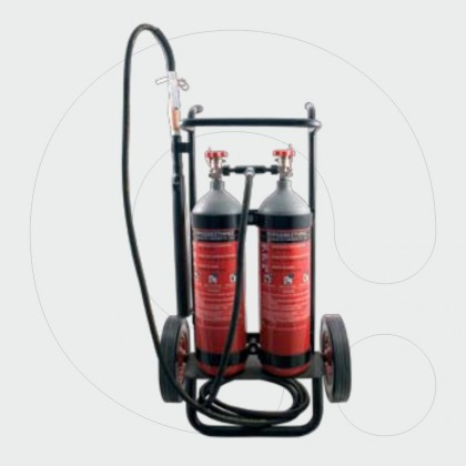 Trolley Fire Extinguisher 10 kg (2x5kg) Dioxide Carbone (CO2)