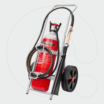 Trolley Fire Extinguisher 10 kg Carbon Dioxide (CO2)