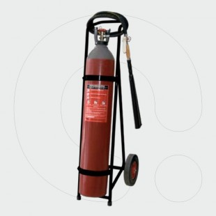 Trolley Fire Extinguisher 45 kg Carbon Dioxide (CO2)