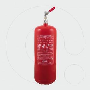 Aparat për shuarjen e zjarrit, 6 kg pluhur ABC 40%, për aplikim lokal me një dalje