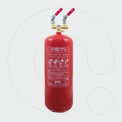 Aparat për shuarjen e zjarrit, 12 kg pluhur ABC 40%, për aplikim lokal me dy dalje