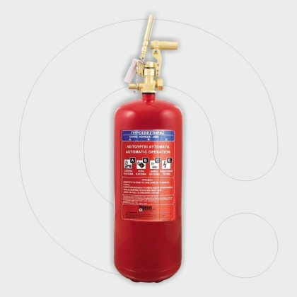Aparat zjarrfikës 25 kg pluhur ABC, për aplikim lokal, me lidhëse siguruese me fileta