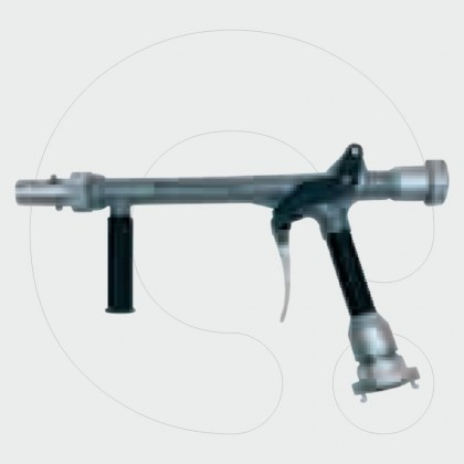 High-pressure branch with foam-generating extension