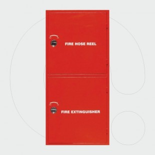 Double Compartment Fire Hose cabinet - complete with hose 3/4'' (30m).