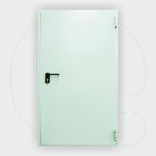 Single leaf Fire Door 60 min, 1.350 x 2.050 mm, certified according to EN 1634-1