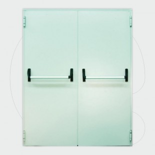 Double leaf Fire Door 60 min, (900+500) x 2.150 mm