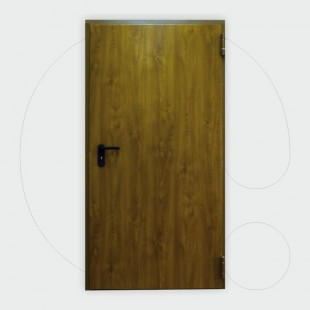 Derë zjarrduruese njëkrahëshe,  ngjyrë druri 60' 900 x 2.150 mm