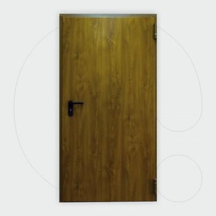 Wooden like color Single leaf Fire Door 60' 1.000 x 2.050 mm