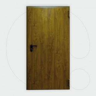Derë zjarrduruese njëkrahëshe ngjyrë druri 60' 1.000 x 2.150 mm