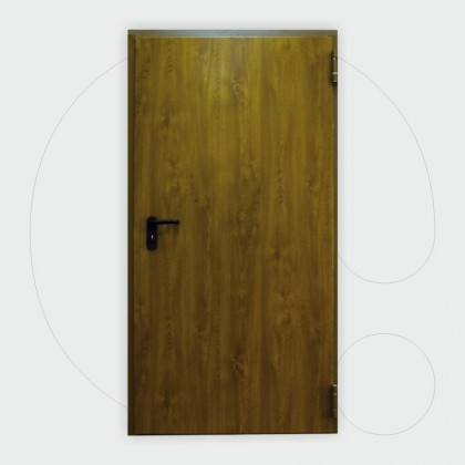 Wooden like color Single leaf Fire Door 60' 1.000 x 2.150 mm