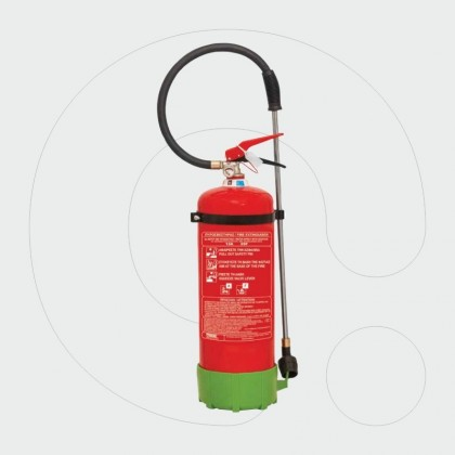 Fire Extinguisher 6 Lt F Class Solution with Metallic Bracket