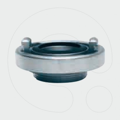 Solid couplings with external thread and washers