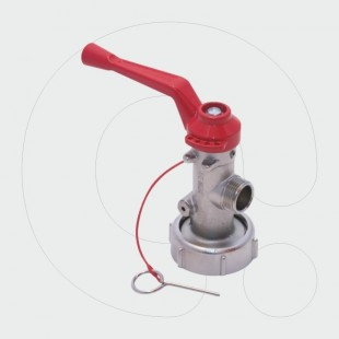 Dry Powder/Foam Trolley Extinguisher Valve 25 - 50 - 100 - 150kg / l