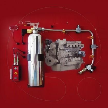 Sistem automatik për shuarjen e zjarrit në kamiona dhe autobus