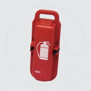 Red Plastic Transportation Protective Box for 1Kg/1Lt Fire Extinguisher