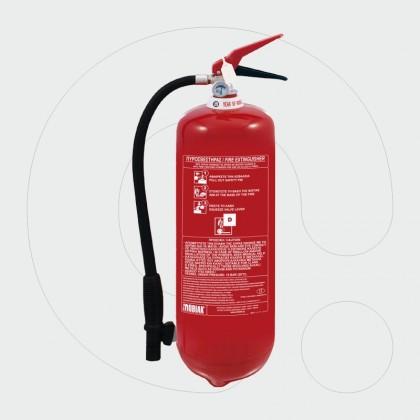 Aparat për shuarjen e zjarrit, 6 kg pluhur D