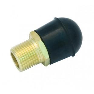 Dry powder discharge nozzle