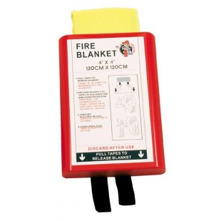 Fire blanket 1,20 x 1,20m in Hard PVC box