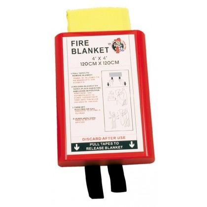 Mbulesa për mbrojtje nga zjarri 1,20 x 1,20m ne nje kuti te fortë PVC