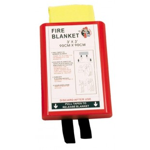 Fire blanket 0,90 x 0,90m in Hard PVC box