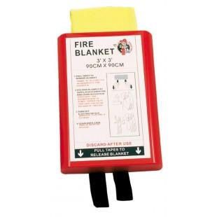 Mbulesë rezistuese ndaj zjarrit, 0,90 x 0,90m në kuti të fortë PVC