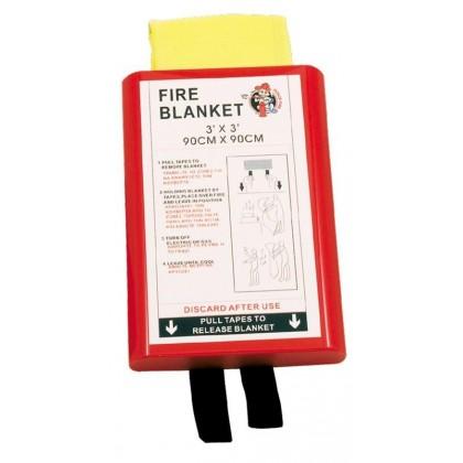 Mbulesa rezistente ndaj zjarrit, 0,90 x 0,90m ne kuti të fortë PVC