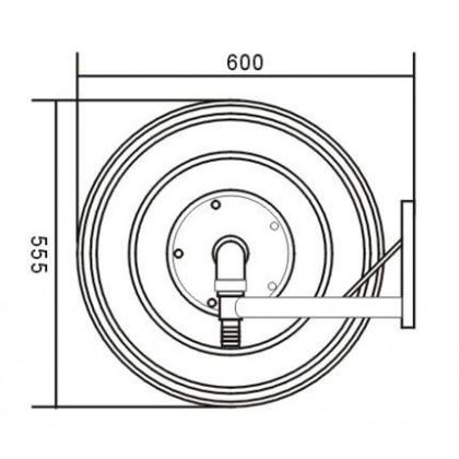 Çikrik nga çeliku me lekundëse automatike , për montim në mur, me gyp 1'