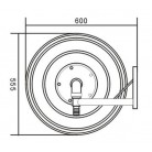 """Wall Mounted Stainless Steel Automatic Swinging Hose Reel 1"""""""