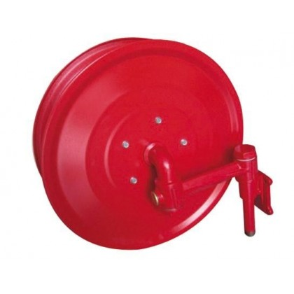 Wall Mounted Manual Swinging Hose Reel with Fire Hose 1""