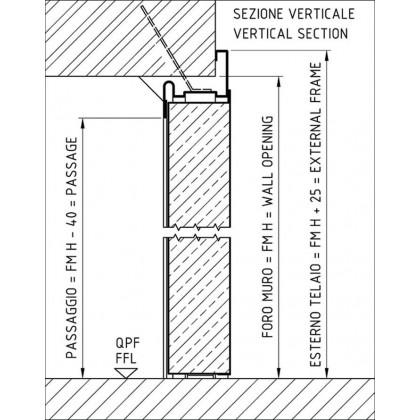 Dimensione të veçanta për dyer zjarrduruese ( njëkahëshe)